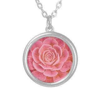 trees, nature, spiritual, love, flowers, inspiring round pendant necklace
