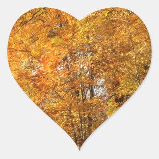 Trees of Fall Heart Sticker