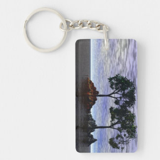 Trees of Fire and Ice Single-Sided Rectangular Acrylic Keychain