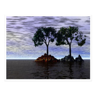 Trees of Fire and Ice Postcard