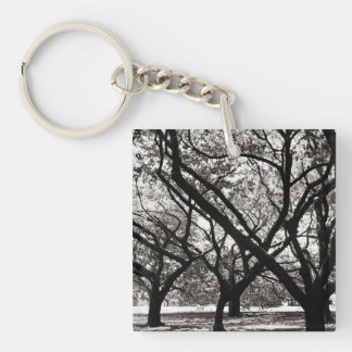 Trees of Harajuku Double-Sided Square Acrylic Key Ring