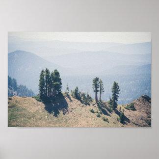 Trees Overlooking Lassen | Poster