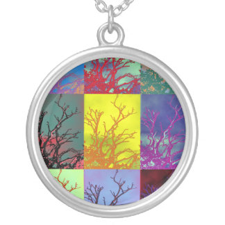 TREES ROUND PENDANT NECKLACE