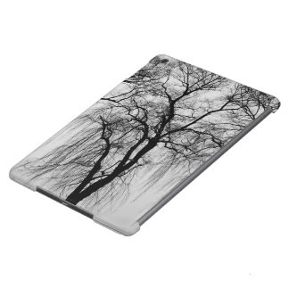 Trees silhouettes in winter iPad air case