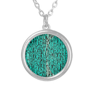 trees silver plated necklace