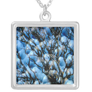 TREES SQUARE PENDANT NECKLACE