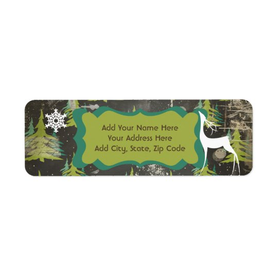 Trees Starry Night Return Address Labels