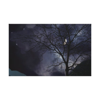 trees without leaves in the fall canvas print