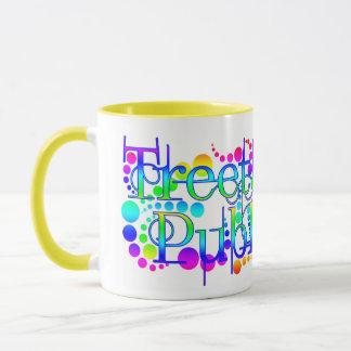 Treetangle Bubbles in Rainbow Mug