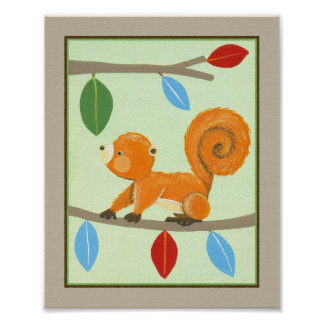 Treetop Friends - Squirrel Poster