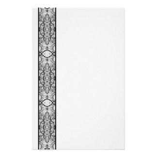 Treetop Spider's Web Black & White Stationery