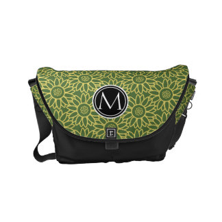 Treetop Sunflower Personalized Monogram Commuter Bag