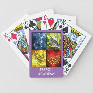 Trefoil Academy Emblem Of the 4 Houses Bicycle Playing Cards
