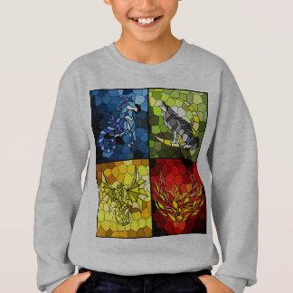 Trefoil Academy Emblem Of the 4 Houses Sweatshirt