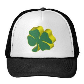 Trefoil symbol irish cap