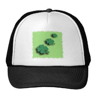 Trefoil symbol irish on the green background cap