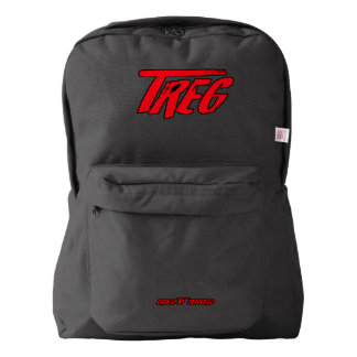 Treg Red on Black BackPacks