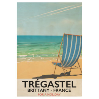 Trégastel, Brittany France beach travel poster