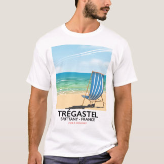 Trégastel, Brittany France beach travel poster T-Shirt