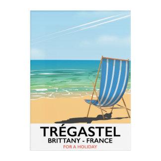 Trégastel, Brittany France beach vacation poster Acrylic Print