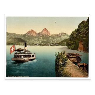 Treib and Mythen, Lake Lucerne, Switzerland classi Postcard