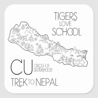 Trek to Nepal - Laptop Sticker