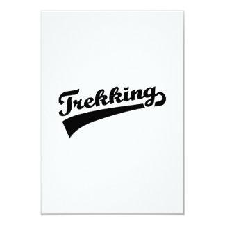 Trekking 3.5x5 Paper Invitation Card