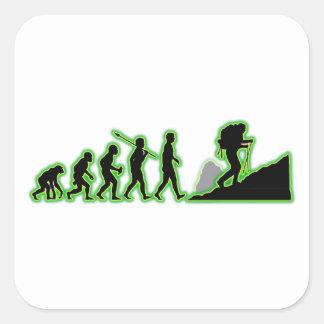 Trekking Square Sticker