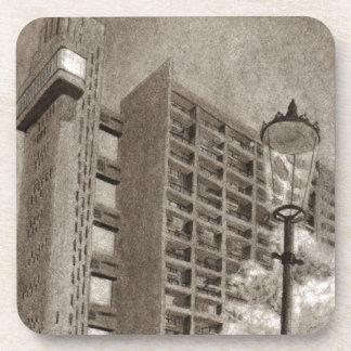 Trellick Tower original drawing Beverage Coasters