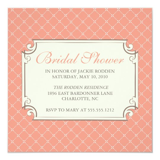 {trellis} bridal shower card
