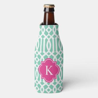 Trellis in Pink & Seafoam | Bottle Cooler