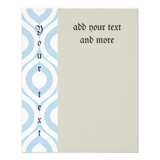 trellis,morrocan,pale blue,pattern,trendy,chic,fun 11.5 cm x 14 cm flyer