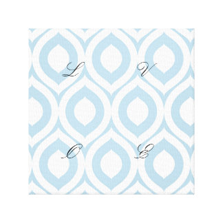 trellis,morrocan,pale blue,pattern,trendy,chic,fun canvas print