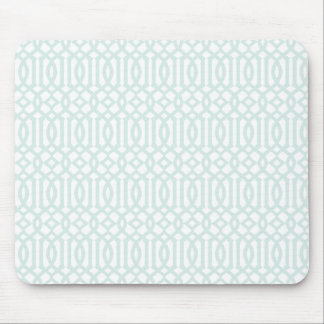 Trellis pattern mousepad - pale blue