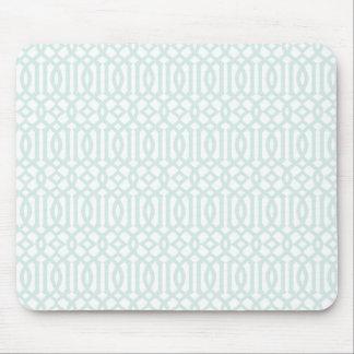 Trellis pattern mousepad - pale blue