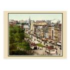 Tremont Street Boston antique restored colour Postcard