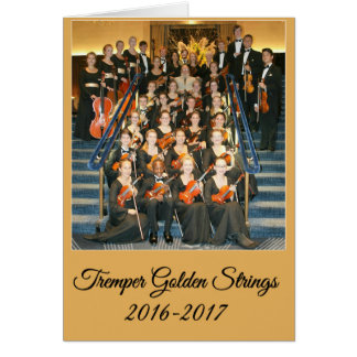 Tremper Golden Strings Kenosha, Wisconsin Card