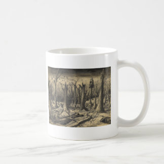 Trench in Campholz Woods Coffee Mugs