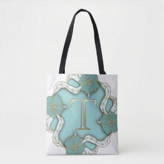 Trend-Setters Letter T Motif Designer Tote Bag