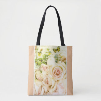 Trend-Setters Shabby Chic Feminine Floral Tote Bag