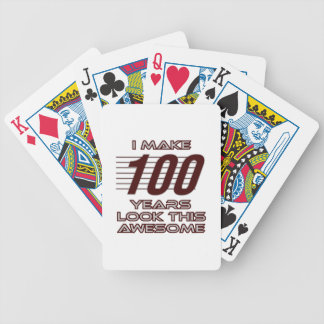 TRENDING 100 YEAR OLD BIRTHDAY DESIGNS BICYCLE PLAYING CARDS