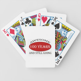 TRENDING 100 YEARS OLD BIRTHDAY DESIGNS BICYCLE PLAYING CARDS