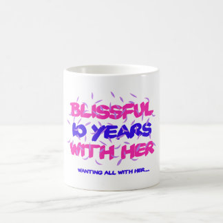 Trending 10th marriage anniversary designs coffee mug