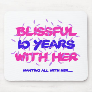 Trending 10th marriage anniversary designs mouse pad