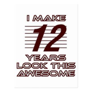 TRENDING 12 YEAR OLD BIRTHDAY DESIGNS POSTCARD