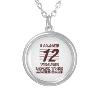 TRENDING 12 YEAR OLD BIRTHDAY DESIGNS SILVER PLATED NECKLACE