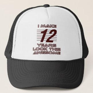 TRENDING 12 YEAR OLD BIRTHDAY DESIGNS TRUCKER HAT