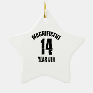 TRENDING 14 YEAR OLD BIRTHDAY DESIGNS CERAMIC ORNAMENT