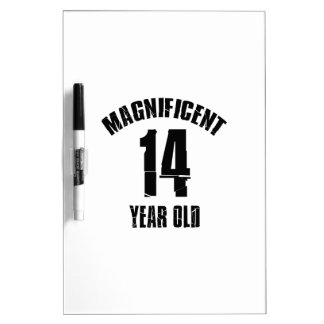 TRENDING 14 YEAR OLD BIRTHDAY DESIGNS DRY ERASE BOARD