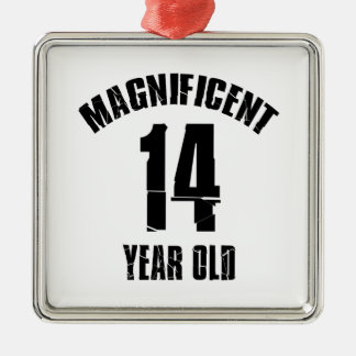 TRENDING 14 YEAR OLD BIRTHDAY DESIGNS METAL ORNAMENT